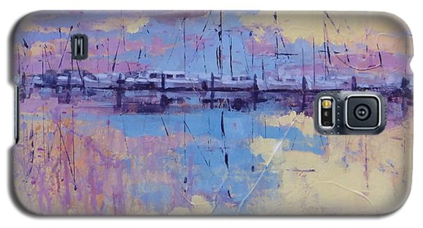 Galaxy S5 Case featuring the painting Dimensions  by Laura Lee Zanghetti