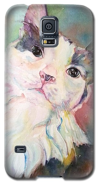 Galaxy S5 Case featuring the painting Dinky by Christy Freeman