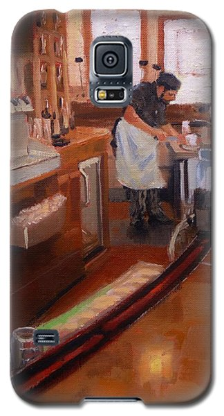 Galaxy S5 Case featuring the painting Dinner On The Cape by Laura Lee Zanghetti