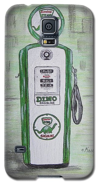 Galaxy S5 Case featuring the painting Dino Sinclair Gas Pump by Kathy Marrs Chandler