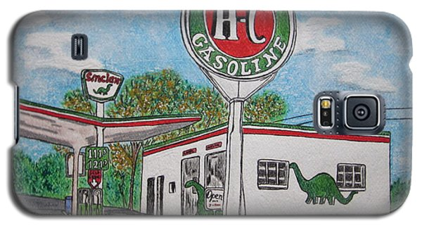 Dino Sinclair Gas Station Galaxy S5 Case by Kathy Marrs Chandler