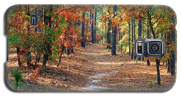 Autumn Scene Dirt Road Galaxy S5 Case