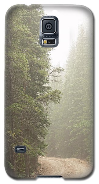 Galaxy S5 Case featuring the photograph Dirt Road Challenge Into The Mist by James BO Insogna