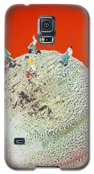 Galaxy S5 Case featuring the painting Dirty Cleaning On Sweet Melon Little People On Food by Paul Ge