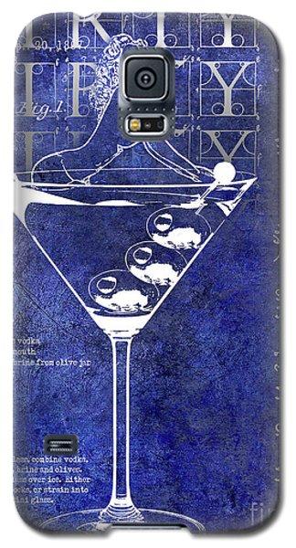 Dirty Dirty Martini Patent Blue Galaxy S5 Case by Jon Neidert