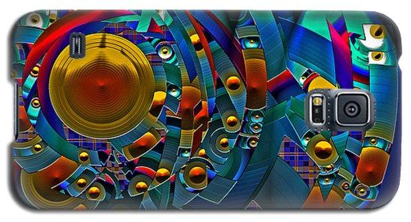 Galaxy S5 Case featuring the digital art Discopolis by Lynda Lehmann