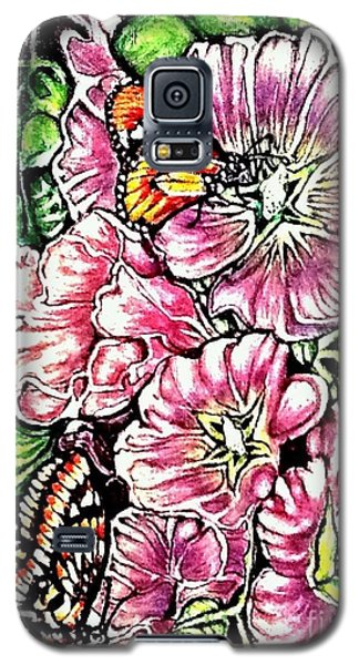 Galaxy S5 Case featuring the painting Discovering The Star Of Bethlehem In A Flower by Kimberlee Baxter