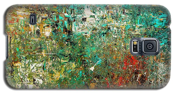 Galaxy S5 Case featuring the painting Discovery - Abstract Art by Carmen Guedez