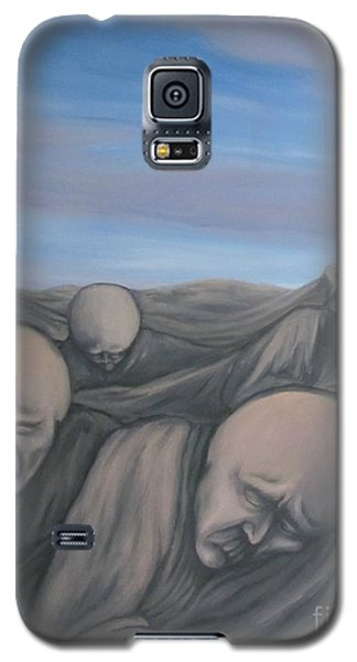 Galaxy S5 Case featuring the painting Dismay by Michael  TMAD Finney