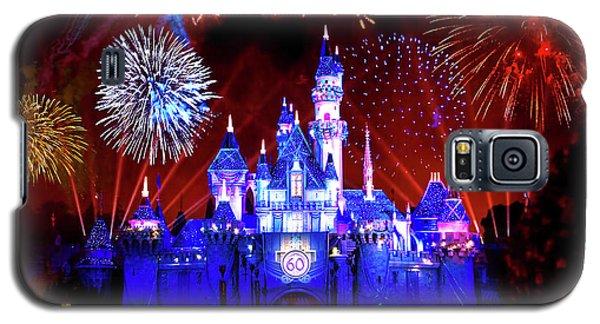 Disneyland 60th Anniversary Fireworks Galaxy S5 Case by Mark Andrew Thomas