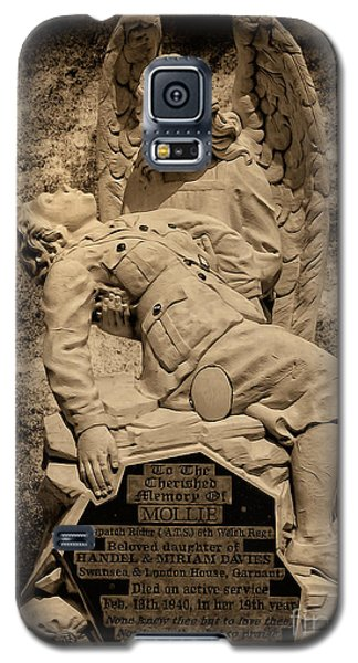 Galaxy S5 Case featuring the photograph Dispatch Rider Memorial by Nigel Fletcher-Jones
