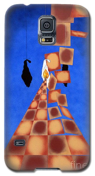 Disrupted Egg Path On Blue Galaxy S5 Case