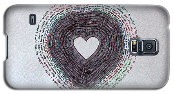 Galaxy S5 Case featuring the painting Distance by Thomas Gronowski