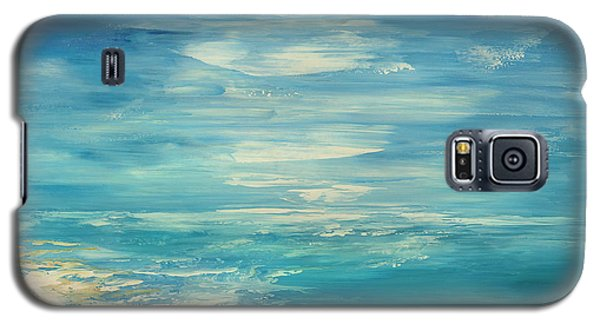 Galaxy S5 Case featuring the painting Distant Deluge by Tatiana Iliina