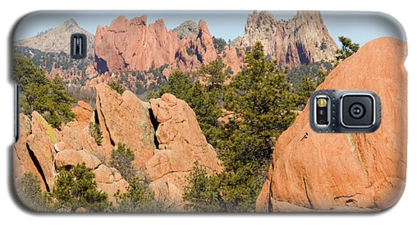 Distant Garden Of The Gods From Red Rock Canyon Galaxy S5 Case