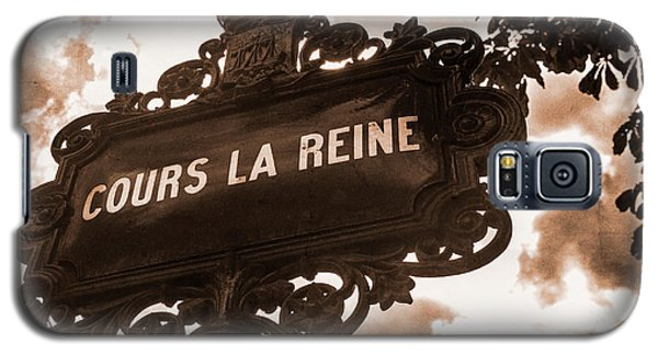 Distressed Parisian Street Sign Galaxy S5 Case