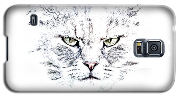 Disturbed Cat Galaxy S5 Case by Everet Regal