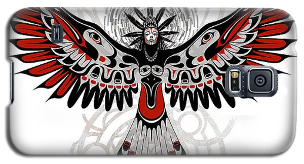 Crow Galaxy S5 Case - Divine Crow Woman by Sassan Filsoof