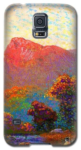 Impressionism Galaxy S5 Case -  Buddha Meditation, Divine Light by Jane Small