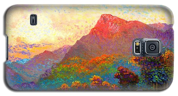 Galaxy S5 Case featuring the painting  Buddha Meditation, Divine Light by Jane Small