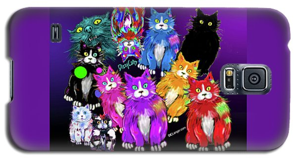Galaxy S5 Case featuring the painting Dizzycats by DC Langer