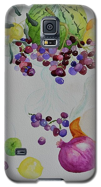 Galaxy S5 Case featuring the painting Django's Grapes by Beverley Harper Tinsley