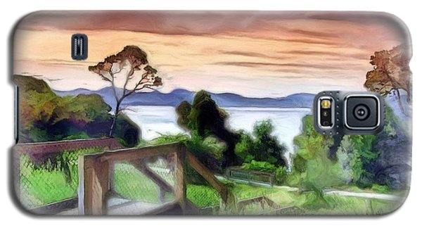 Galaxy S5 Case featuring the photograph Do-00272 Look Out From Sarah Island by Digital Oil