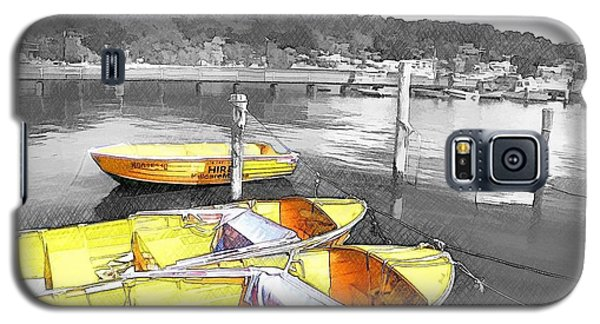 Do-00279 Yellow Boats Galaxy S5 Case