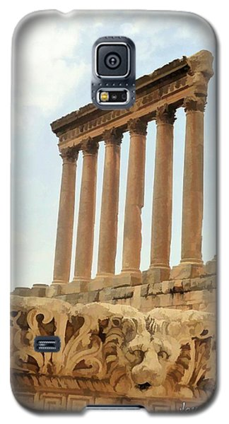 Do-00314 The 6 Corinthian Columns In Baalbeck Galaxy S5 Case