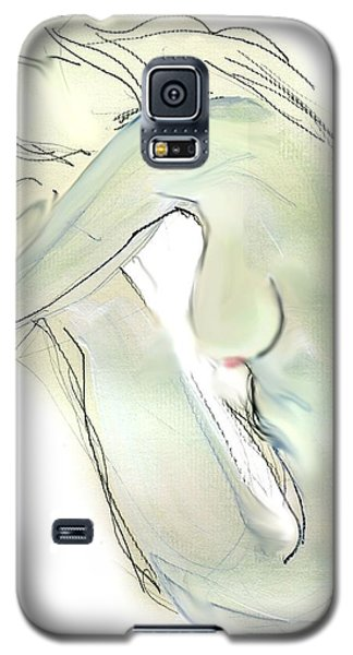 Galaxy S5 Case featuring the drawing Do You Think - Female Nude by Carolyn Weltman