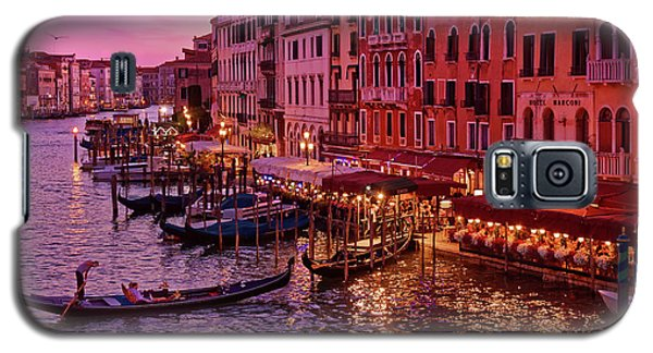 A Cityscape With Vintage Buildings And Gondola - From The Rialto In Venice, Italy Galaxy S5 Case