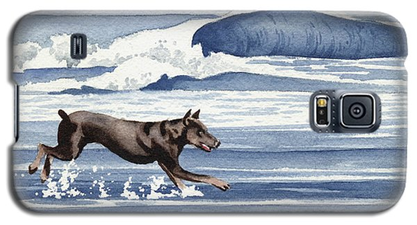 Doberman At The Beach  Galaxy S5 Case by David Rogers