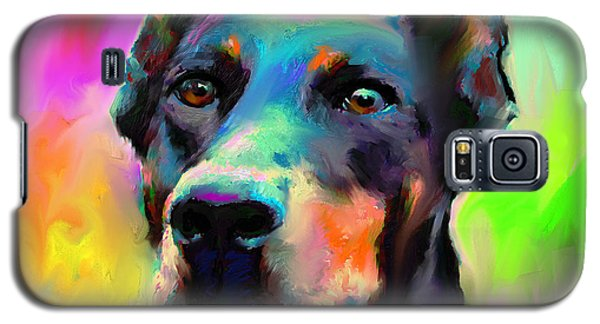Doberman Pincher Dog Portrait Galaxy S5 Case