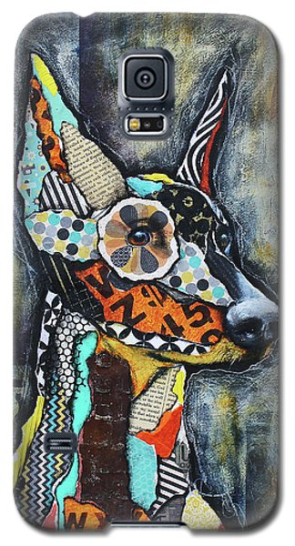 Galaxy S5 Case featuring the mixed media Doberman Pinscher by Patricia Lintner