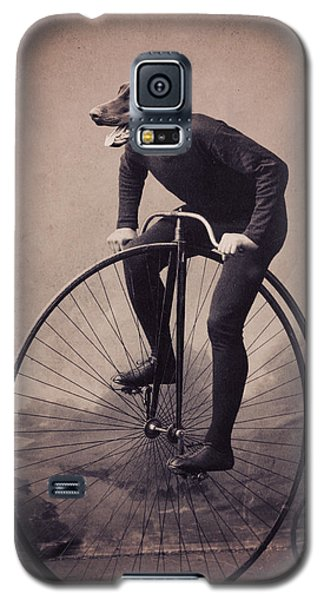 Bicycle Galaxy S5 Case - Doberman Velocipede by Aged Pixel