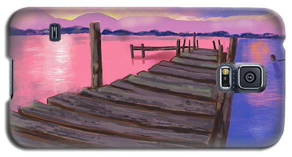 Dock At Sunset Galaxy S5 Case