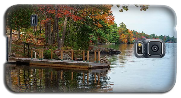 Dock On Lake In Fall Galaxy S5 Case