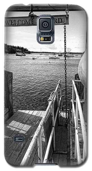 Galaxy S5 Case featuring the photograph Dock, Port Clyde, Maine  -2043-ip-bw by John Bald