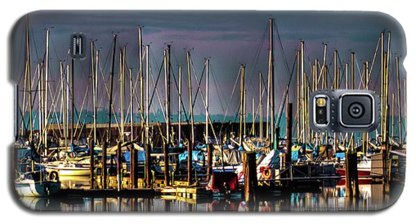 Docked Sailboats Galaxy S5 Case by David Patterson