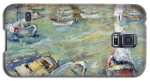 Docking In Cassis Galaxy S5 Case by Sharon Furner