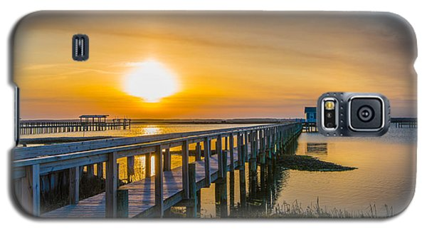 Galaxy S5 Case featuring the photograph Docks At Sunset I by Steven Ainsworth
