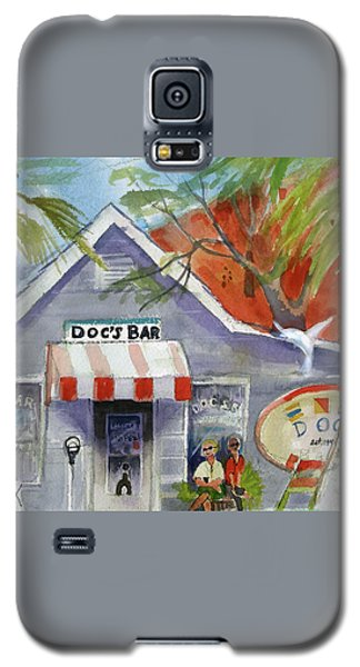 Galaxy S5 Case featuring the painting Docs Bar Tybee Island by Gertrude Palmer