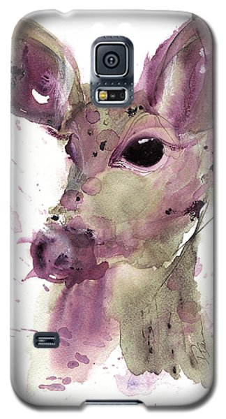 Galaxy S5 Case featuring the painting Doe by Dawn Derman