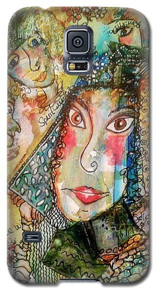Doe Eyed Girl And Her Spirit Guides Galaxy S5 Case