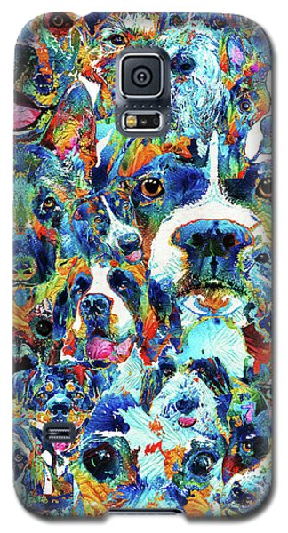 Galaxy S5 Case featuring the painting Dog Lovers Delight - Sharon Cummings by Sharon Cummings
