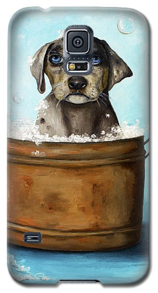 Dog N Suds Galaxy S5 Case by Leah Saulnier The Painting Maniac