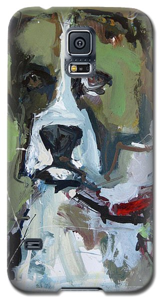 Galaxy S5 Case featuring the painting Dog Portrait by Robert Joyner