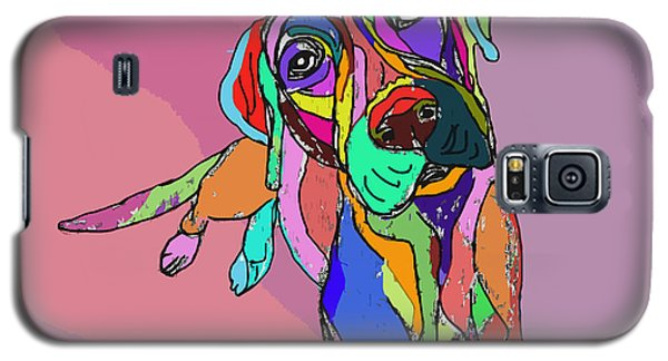 Dog Sketch Psychedelic  01 Galaxy S5 Case