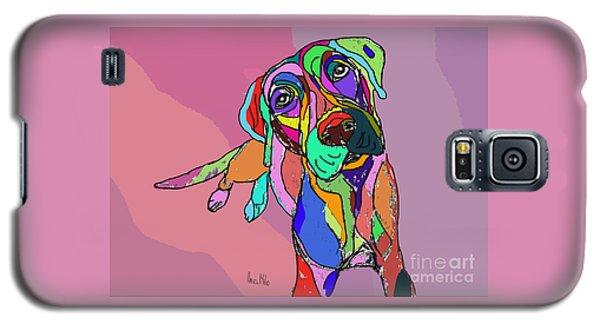 Dog Sketch Psychedelic  01 Galaxy S5 Case by Ania Milo