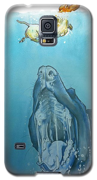 Dog-themed Jaws Caricature Art Print Galaxy S5 Case